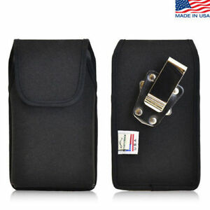 iPhone-4S-Nylon-Cell-Phone-Vertical-holster-Case-Metal-Belt-Clip-Fits-Otterbox