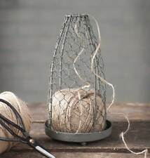 Vintage Inspired Chicken Wire Cloche with Roll of Jute String