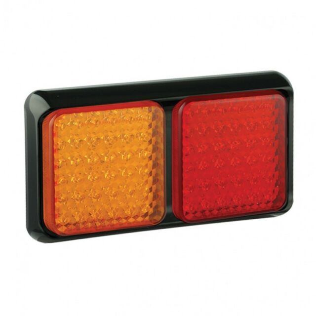 2 LED AUTOLAMPS 80BARME 12V//24V REAR SLIM COMBINATION STOP//TAIL//IND LAMPS//LIGHTS
