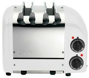 Dualit-Two-Sandwich-Toaster-2-Slots-White-Stainless-Steel-Classic-Vario-Finish