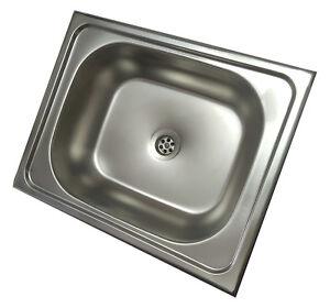 Dettagli su Acciaio Inox Design Lavello Cucina in Lavandino Incorporato  40x50cm
