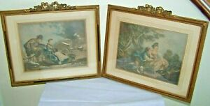 Art Prints Tireless Antique Litho Or Engraving Peint Par F Boucher Grave Par Daulle 1756 Nice Frames To Adopt Advanced Technology