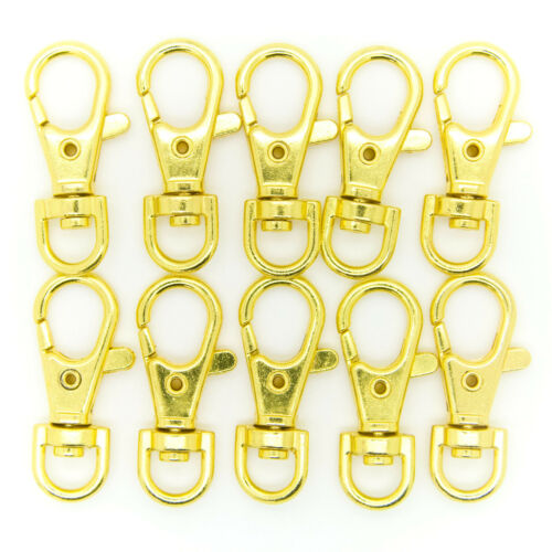 Metal Lanyard Hook Gold Swivel Snap For Paracord Lobster Clasp Clips Lot of 100