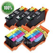 5pk Series 21/22/23/24 Ink Cartridges Black/Color for Dell V515w V313w V313