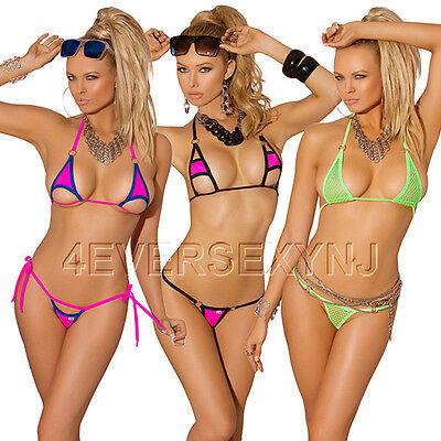 Sexy Bikini Set  Monokini Exotic Dancer Stripper Dancewear Assorted Colors