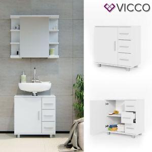 VICCO Waschbeckenunterschrank ILIAS Weiß Waschtisch Unterschrank ...