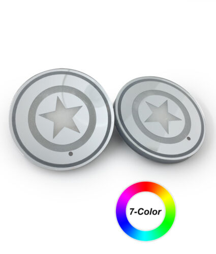 XR002A 2pc set Star patterns LED coaster for car or home use