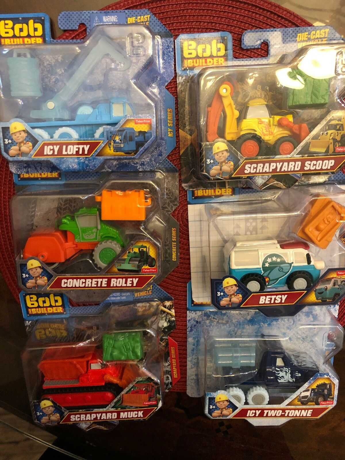 FISHER PRICE BOB THE BUILDER DIE-CAST LOT  Free Shipping