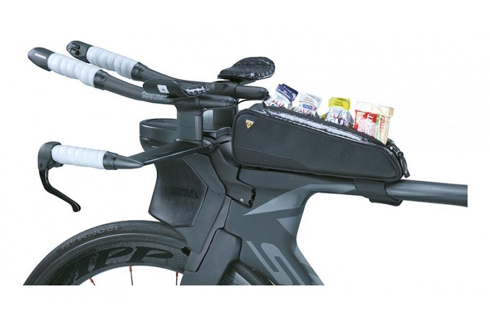 Topeak Fast Fuel Tribag  Top  Tube Mount Triathlon Bag for Energy & Nutrition  convenient