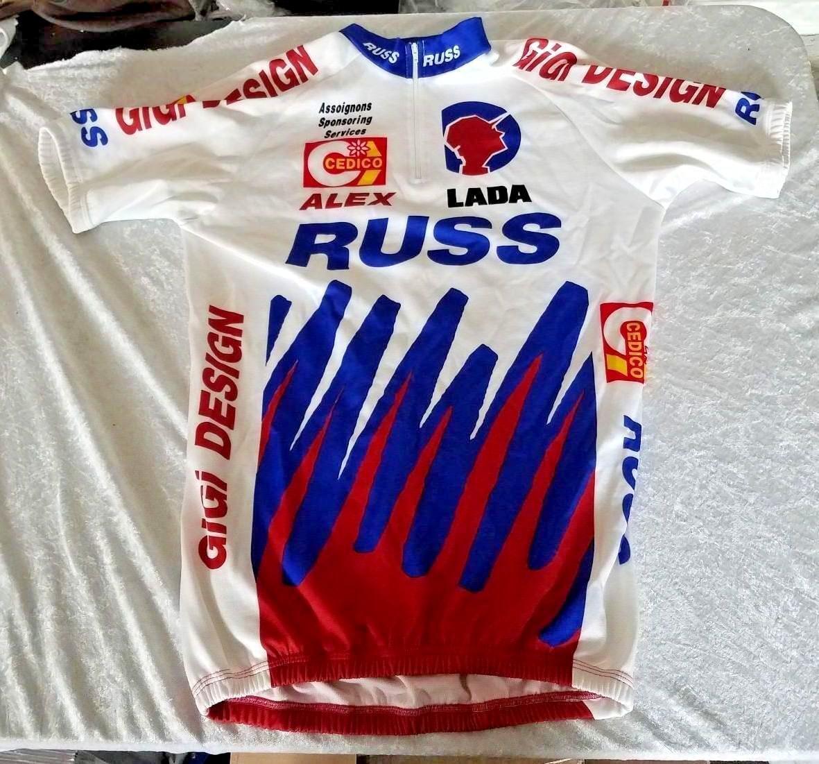 Cycling Bicycling Jersey RUSS LADA ALEX GIGI Design Cedico RARE