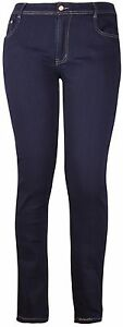 Womens-Plus-Size-Jeans-Straight-Leg-Stretch-Blue-Denim-Ladies-Trousers-Pants