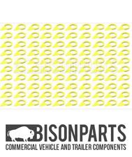 BargainBitz 100 X Checkpoint Wheel Nut Indicators Tyre Tire Pointers Wheelnut 28Mm