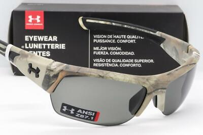 Under Armour Launch ANSI Sunglasses Realtree Xtra Camo Grey Lens Microfiber Pouc