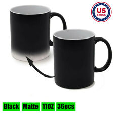 Us Stock 36pcs Matte Magic Cup 11oz Blank Sublimation Full Color Changing Mugs