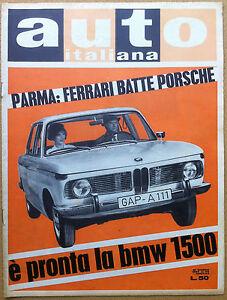 Auto Italiana - 1962 n° 25 - MBW 1500 - De Tomaso F1 - meccanica corse - Italia - Auto Italiana - 1962 n° 25 - MBW 1500 - De Tomaso F1 - meccanica corse - Italia