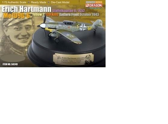 "Dragon 172 Me 109G6  Erich Hartuomon ""gituttio 1"",Staffelkapitan 9.JG52,Eastern"