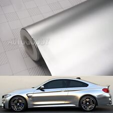 "12"" x 60"" Satin Matte Chrome Metallic Silver Vinyl Film Wrap Sticker Bubble Free"