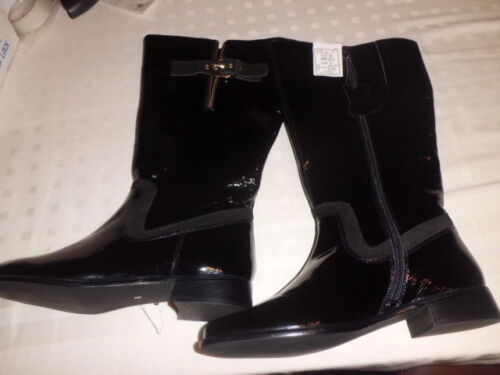 Other Zipped Leather Picture On Black With Boots Womens Side C size 8 Belt HXOz7wq
