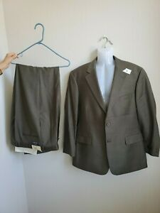 399-NWT-Men-039-s-Brooks-Olive-Green-Suit-Jacket-Size-48-Pants-Size-38-Pure-Wool