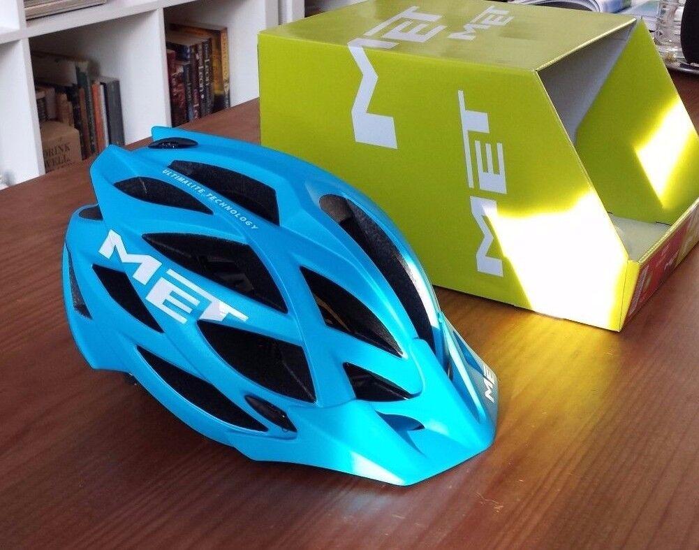 Met Kaos  ultimalite mountainbike casco negro cian azul talla M 54-57  solo cómpralo