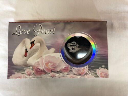 "Swan Swan Love Wish Pearl Kit Chain Necklace Kit Pendant pearl in kit Set 16"""
