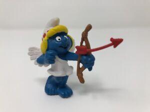 Smurfs Valentine Smurfette Smurf Cupid Love 20156 Rare Vintage Display Figurine
