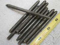 Hanger Bolts 1/4 X 3-1/2 Long Steel Unplated Lot Of 9 5218