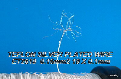 10m 0.16 mm2 26AWG  SILVER PLATED HIGH PURITY COPPER TEFLON WIRE HABIA  E2619
