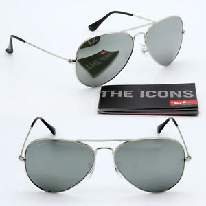 b7738e1d84 62mm ray-ban aviator new sunglasses for men and women silver mirror ...
