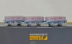 Graham Farish 377-475Z , N Gauge, Set of 3 China Clay Wagons with Hoods