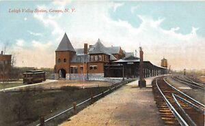 D91-Geneva-New-York-NY-Postcard-c1910-Lehigh-Valley-Railroad-Depot-Station-17