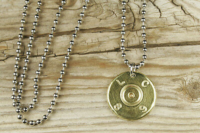 Authentic Recycled 50 Caliber BMG Bullet Head Necklace 50 Cal Sniper FREE SHIP