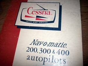 1966 Cessna Navomatic 200, 300 and 400 Service Manual