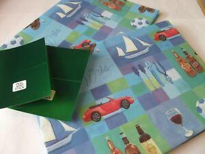 Car-Sports-Birthday-Gift-Wrap-2-Sheet-amp-2-Tag-65cm-x-48cm