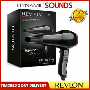 New-Womens-Revlon-Harmony-Professional-Dry-amp-Style-Compact-Power-Hairdryer-2000W
