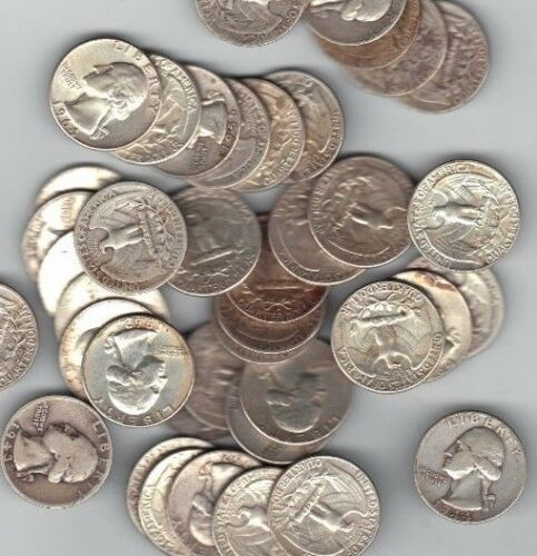 """Pre 1964 Washington Quaters 90/% Silver /""""Select how many/"""" $4.99 each"""