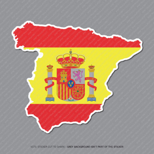 Spain 2954 Spanish Map Flag Sticker Macbook Notebook Laptop Car