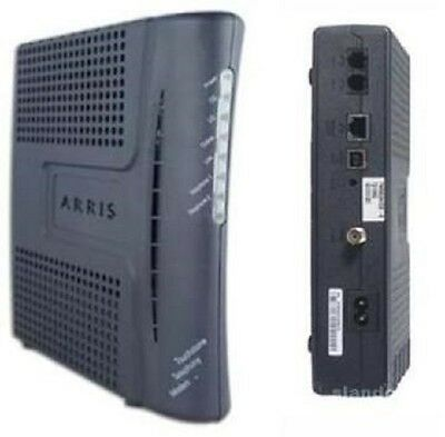 Touchstone Cable VOIP Telephony Modem with Backup Battery! ARRIS TM602G