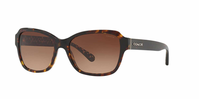 70c6577bba00 Coach 8232 L1010 Sunglasses 550713 Dark Tortoise 100 Authentic W ...