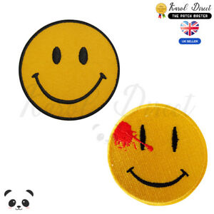 Smile-Emoji-Embroidered-Iron-On-Sew-On-Patch-Badge-For-Clothes-etc