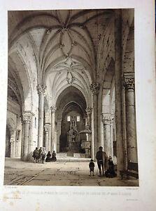 Toledo-Illescas-litografia-original-Villaamil-1842-1850