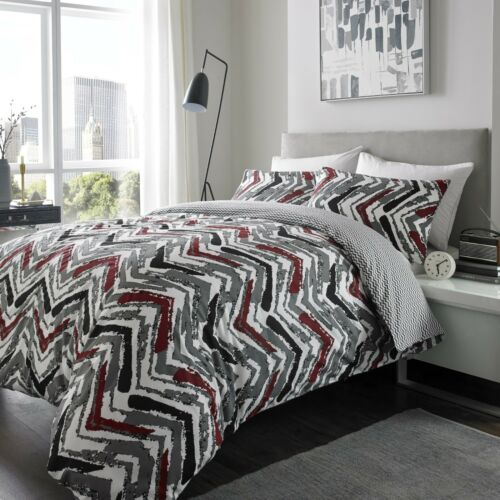 Warm Flannelette Duvet Quilt Cover Set All Sizes 100/% Brushed Cotton Reversible