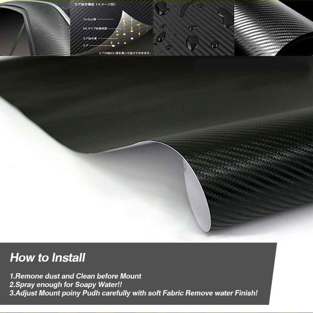 B Pillar Post Carbon Fiber Decal Sticker 4P For BMW 2011-15 6 Series Gran Coupe