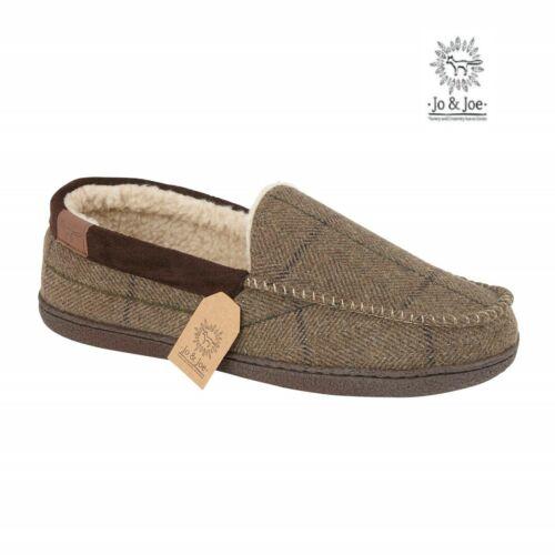 Da Uomo Nuovo gentiluomo in Pile Caldo Invernale Mocassino Piatto Pantofole SUOLA DURA TG UK