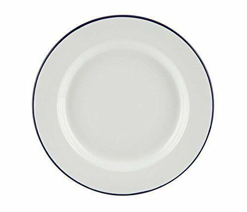 6x Falcon Traditional Enamel 24cm Dinner Plate Set Steak Roasting Baking Camping