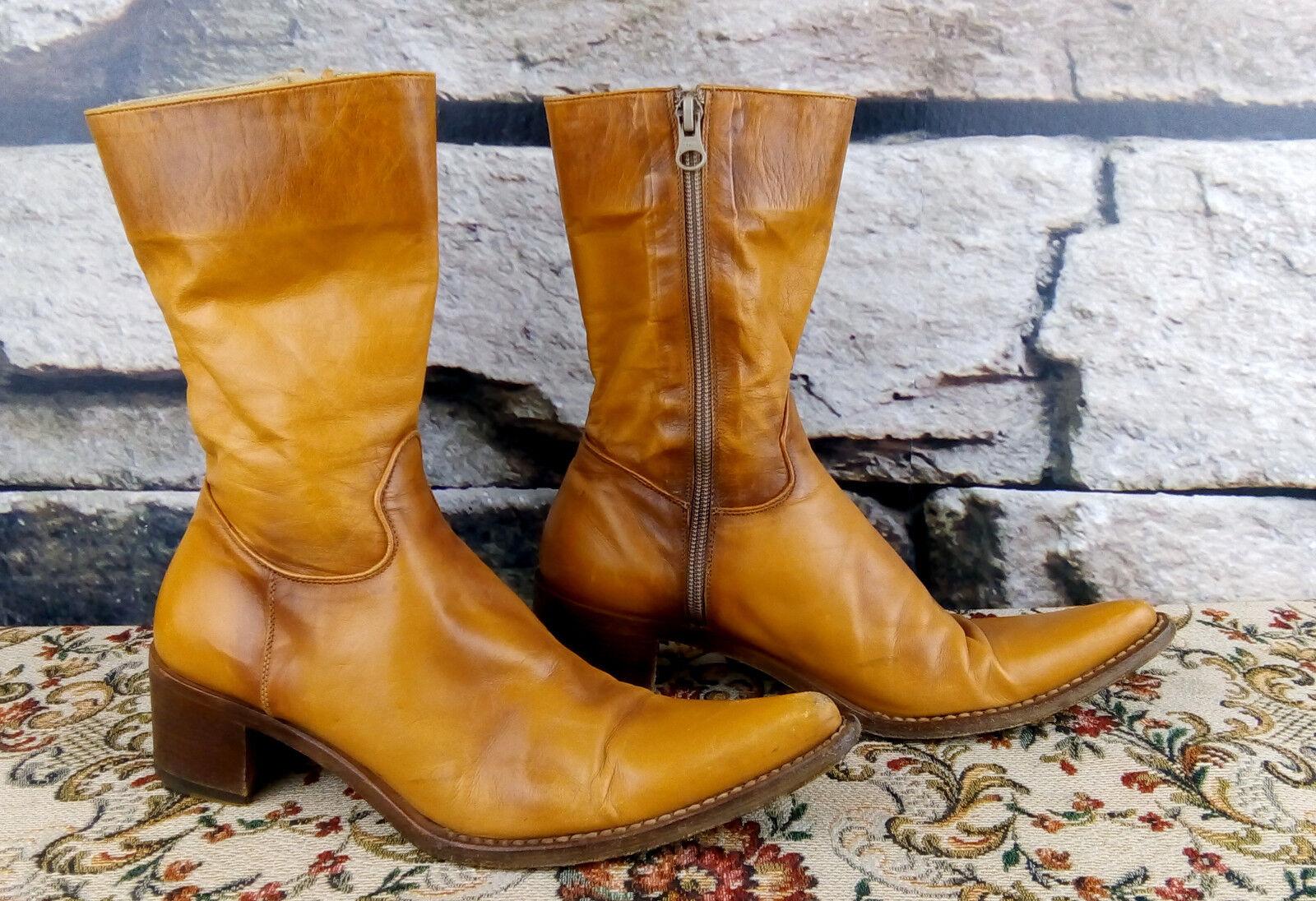 Rocco p. rahmengenähte botas de cuero Western Cowboy botas line Dance  e2