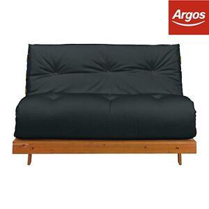 Argos Home Tosa 2 Seater Futon Sofa Bed Black Ebay