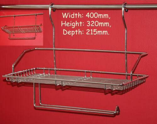 Panier Chrome Cuisine Rack stockage distributeur rouleau de serviette titulaire avec rail