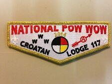 OA (BSA) 2014 Croatan #117 National Pow Wow Fundraiser Flap (Gold)