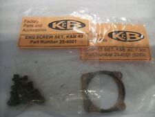 K&B 40 7.5  GASKET & ALLEN HEAD SCREW SET NIP